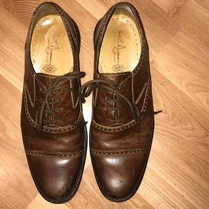 Martin Dingman dress shoes brown leather size 11